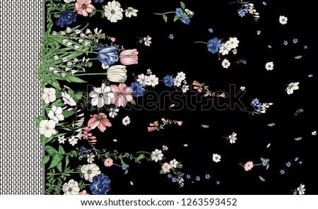flowers fashion fabric pattern