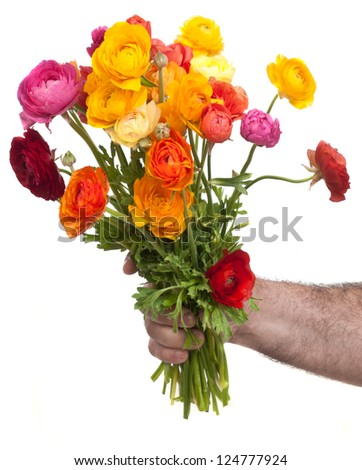 flowers for birthday - stock photo