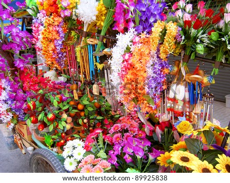 Flowers for sale in Pattaya, Thailand.