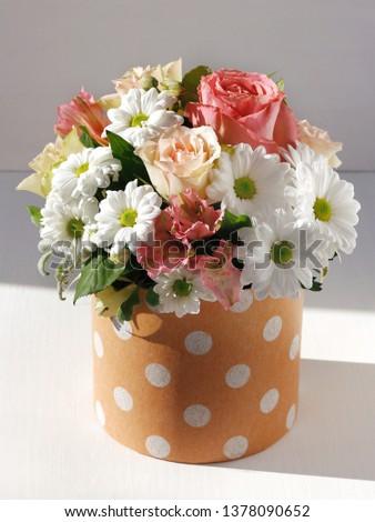 Beautiful Design Of Flowers Box Of Fresh Flowers Decoration