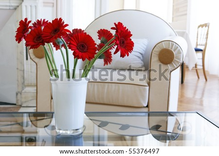 flowers in a house
