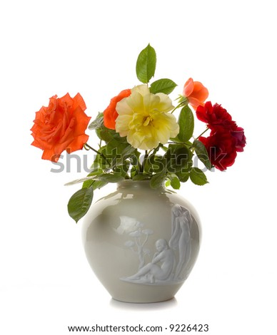 flowers in vase images. stock photo : Flowers in vase