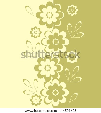 flowers in vertical seamless pattern