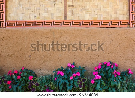 Flowers near the wall