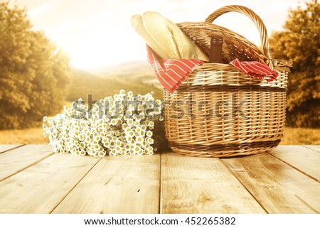 flowers of white color and basket  #452265382