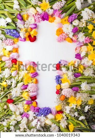 Flowers on a white background. #1040019343