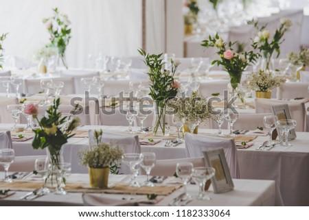 Flowers On Wedding Table Vintage Wedding Decoration Ez Canvas