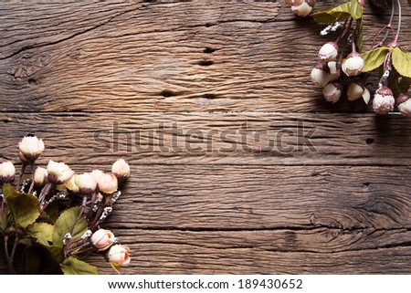 flowers on wooden background  #189430652