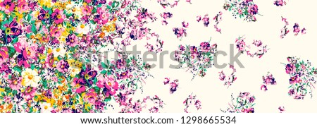 Flowers pattern..for textile, wallpaper, pattern fills, covers, surface, print, gift wrap, scrapbooking, decoupage.