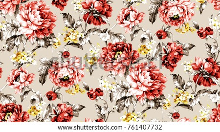 Flowers pattern.for textile, wallpaper, pattern fills, covers, surface, print, gift wrap, scrapbooking, decoupage.Seamless pattern