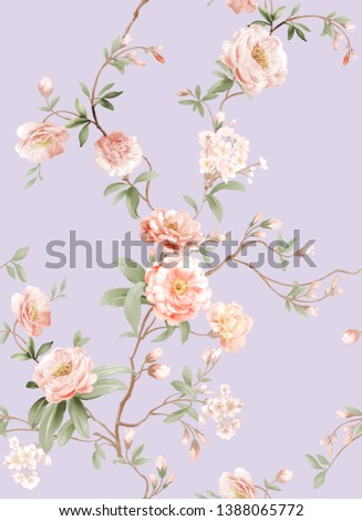 Flowers watercolor illustration,Mother