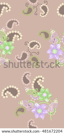 Flowers With Background Design