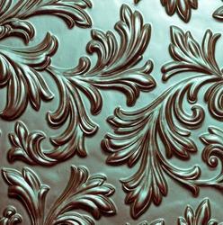 Flowery ornate metallic pattern