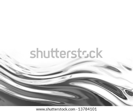 Flowing chrome or metallic background with room for print