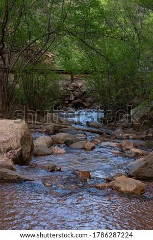 Flowing creek through colorado springs