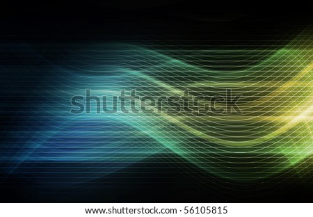 Flowing Energy as a Digital Abstract Background