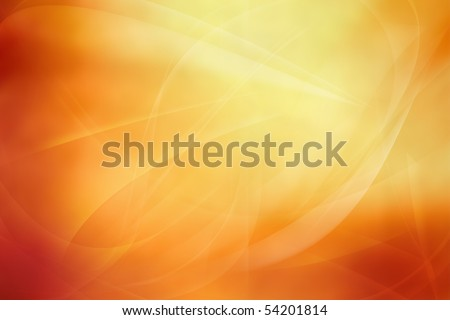 Flowing lines on abstract orange tone background. Copy space