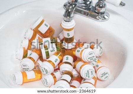 Flowing Pill Bottles
