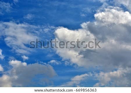 fluffy cloud. #669856363