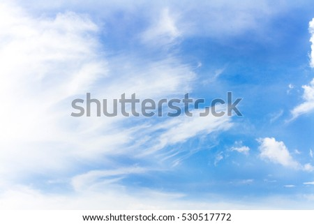 Fluffy Cloud and Blue sky in winter season #530517772