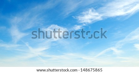 fluffy clouds in the blue sky #148675865