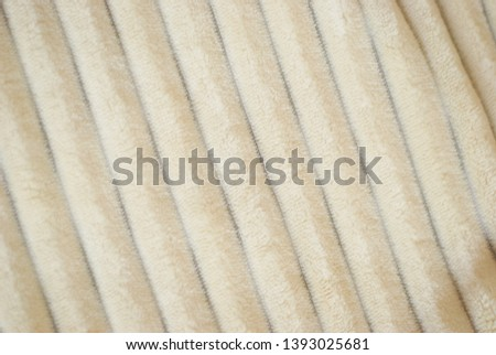 Fluffy Gentle baby beige minky fabric with stripes. #1393025681