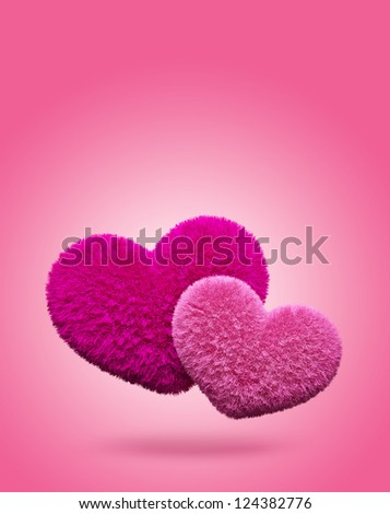 Fluffy hearts. Valentine's day