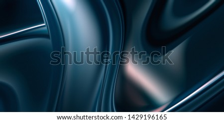 Fluid metal substance. Abstract iridescent mercury background. Smooth gradient layout for decoration.