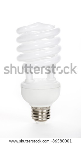Fluorescent Light Bulb isolated on white