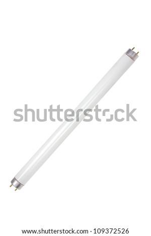 Fluorescent Tube on White Background