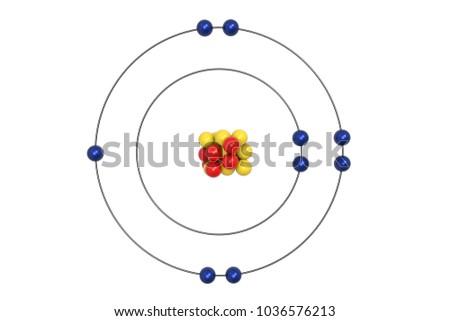 Fluorine Bohr Diagram.Shutterstock Puzzlepix