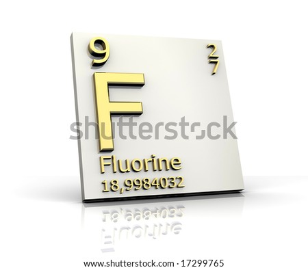 stock photo : fluorine form Periodic Table of Elements