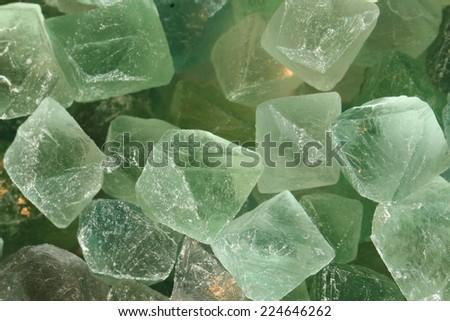 fluorite mineral (crystals) background