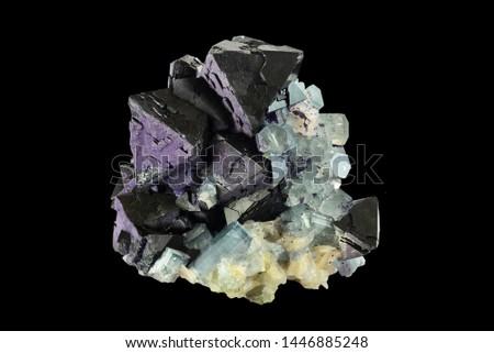 Fluorite with aquamarine from Erongo, Namibia.  #1446885248