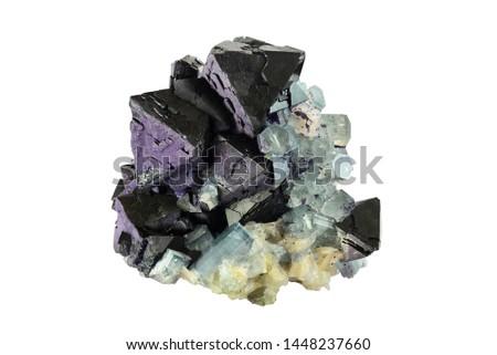 Fluorite with aquamarine from Erongo, Namibia.  #1448237660