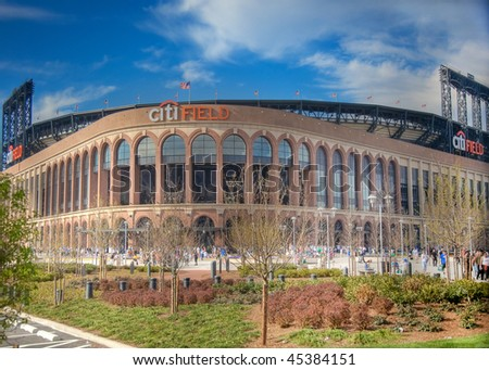 FLUSHING, NY - APRIL 26: A view of the recently opened CitiField, home of major league baseball team the New York Mets, soon after its inaugural opening on April  26, 2009 in Flushing, NY.