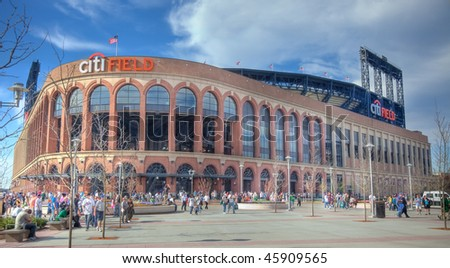 FLUSHING, NY - APRIL 24: A view of the recently opened CitiField, home of major league baseball team the New York Mets, soon after its inaugural opening on April 24, 2009 in Flushing, NY.