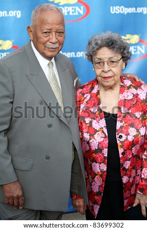 FLUSHING, NY - AUGUST 29: David and Joyce Dinkins attend 2011 US Open opening night ceremonies at the USTA Billie Jean King National Tennis Center on August 29, 2011 in Flushing, New York.