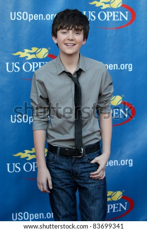 FLUSHING, NY - AUGUST 29: Greyson Chance attends the Opening Night Ceremonies for the 2011 US Open at the USTA Billie Jean King National Tennis Center on August 29, 2011 in Flushing, New York. - stock photo