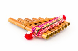 Flute - folk instrument from Peru and Bolivia.