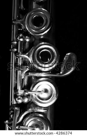 Flute - music background. Classic music concert concept