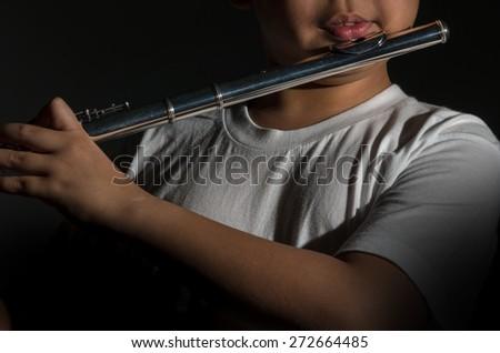 Flute music playing flutist musician performer, musical instrument