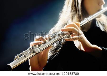 flute music playing flutist...