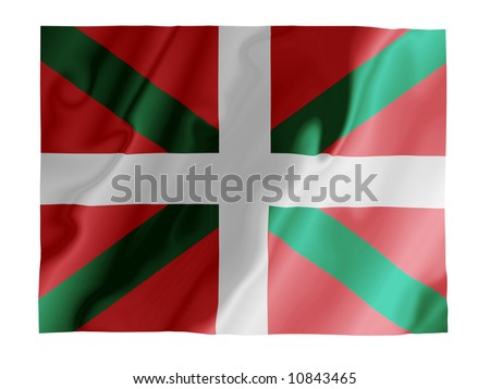 Fluttering image of the Basque flag
