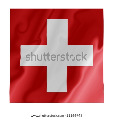 Fluttering image of the Swiss national flag