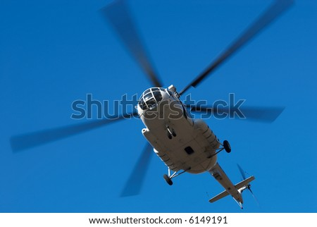 Fly big helicopter