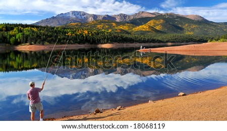 Fly fishing at the scenic crystal reservoir in the pike for Peak fishing times