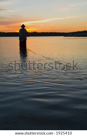 Fly fishing in the morning sun 15