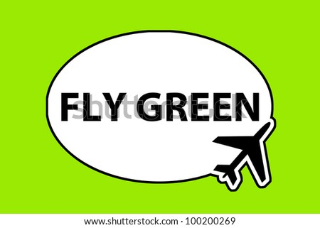 fly green - airplane sign