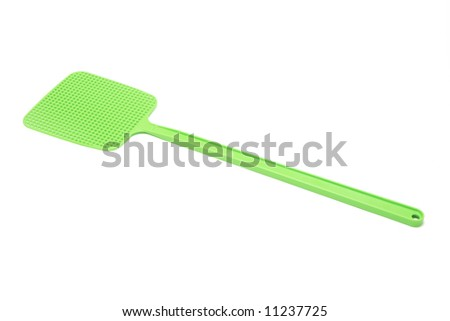 Fly Swat on White Background
